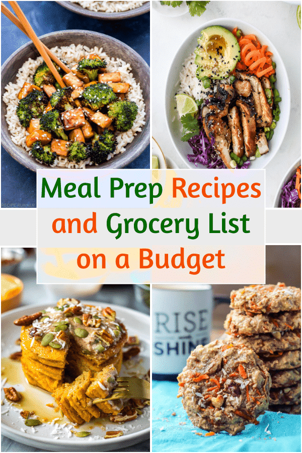 Meal prep recipes and grocery list 2