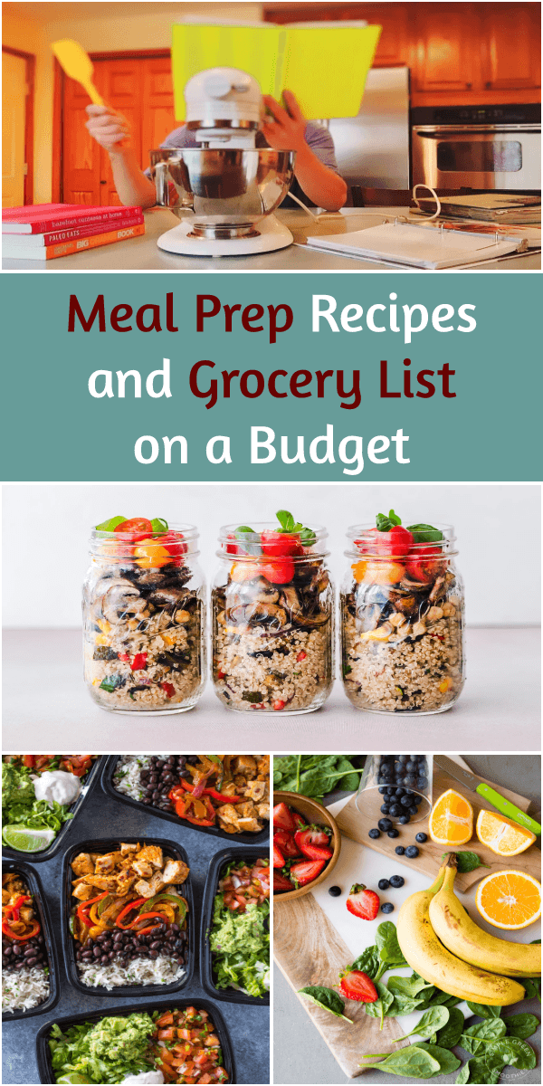 Meal prep recipes and grocery list