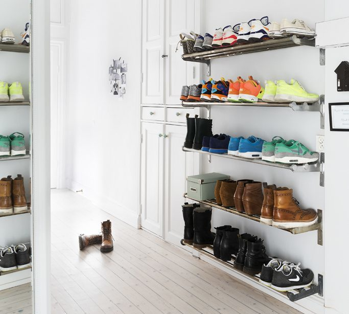 Floating Shoe Shelves