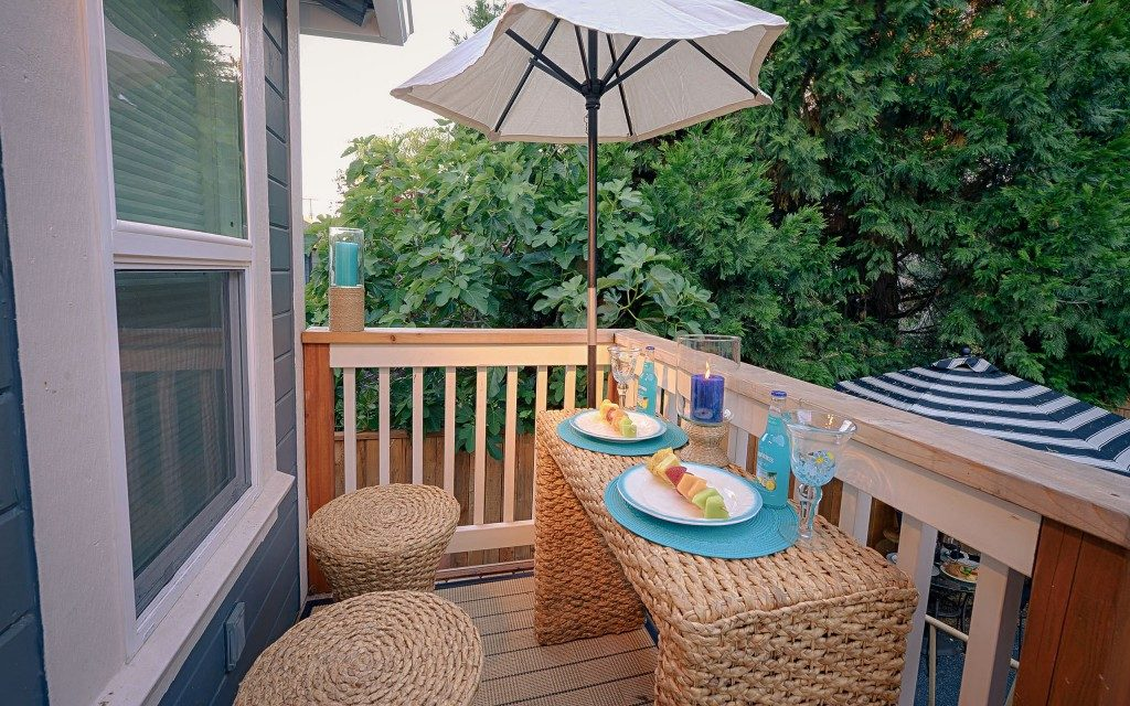 Make it classy small balcony ideas